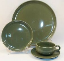 4 PC PLACE SETTING RUSSELL WRIGHT GREEN AMERICAN MODERN DINNERWARE STEUBENVILLE