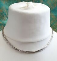 Stunning Vintage 10 Strand Sterling 925 Liquid Silver Necklace