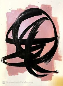 EXPRESSIONIST ABSTRACT ART JAPANESE CONTEMPORARY BLACK INK NEW WALL ART ORIGINAL