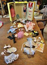 VTG LOT Skipper Barbie Clothes Shoes Carrying Case -- NICE!