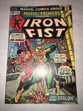 MARVEL PREMIERE #16 VF/NM 9.0 2nd APPEARANCE IRON FIST OW/W PAGES NETFLIX KEY!