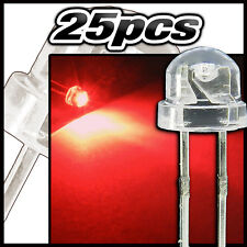 454/25# LED grand angle rouge 25pcs  - straw hat LED 4,8mm  red - rot - rojo