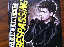 Trespassing by Adam (American Idol) Lambert cd booklet signed autographed