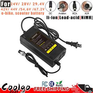 24V 28V 29.4V 42V 67.2V Power Supply Charger for Electric Scooter E-bike