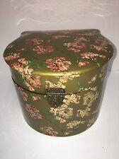 Antique Victorian Celluloid Floral Collar Box