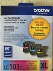 Genuine+Brother+LC103CL+XL+Cyan%2CMagenta%2CYellow+Ink+Cartridge+Pack+Exp%3A2022%2F02