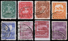 Mexico Scott 279-284, 287-288 (1898) Used/Mint H F-VF, CV $258.00 B