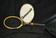 Vintage Bancroft Bjorn Borg Personal Model Wood Tennis Racquet + Cover 4 5/8
