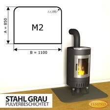 Kaminbodenplatte Funkenschutz » Ofenplatte Ofen Kaminofenplatte « Stahl grau M2