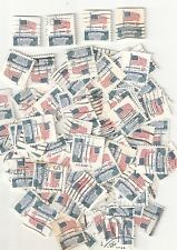 100 Used U.S. Stamps 8c FLAG & WHITE HOUSE (50 #1338F & 50 #1338G Coil)