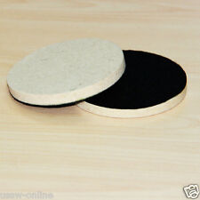 2Pc 100mm Wool Polishing Buffing Pad For Glass Metal Paintwork with hook&loop
