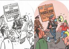EX-LIBRIS DE LUCIEN MANIFESTANT NUMEROTE ET SIGNE PAR MARGERIN NEUF