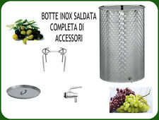 BOTTE INOX SALDATA FIORETTATA LT. 110 COMPLETA DI GALLEGGIANTE AD OLIO