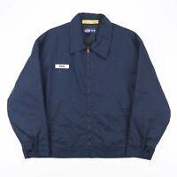 Vintage DICKIES  Blue Classic Cotton Blend Workwear Harrington Jacket Mens XL