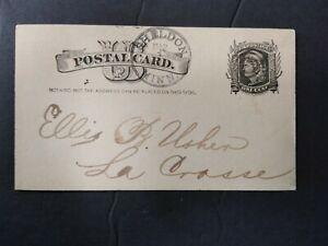 Minnesota: Sheldon 1880 (circa) Postal Card, DPO Houston Co