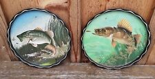Pair Of Vintage Fish Decor Trays.
