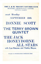 More details for ronnie scott terry brown tubby hayes t & h modern rhythm club flyer advert
