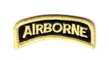 "AIRBORNE ""Tab"" Black / Yellow Border (Fabrication Actuelle)"