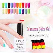 Elite99 UV LED Nagellack Nail Art  Gel Polish Makaron Gellack Top Base Coat 10ml