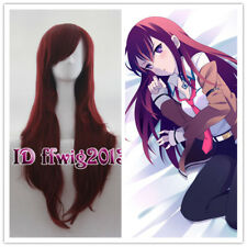 Makise Kurisu Steins Gate Long wave Anime Cosplay Party Hair wig +a wig cap