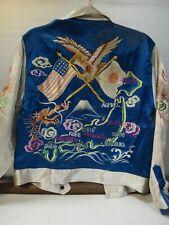 Vintage Sukajan 1950's Blue & Silver Japanese Souvenir Tour Jacket