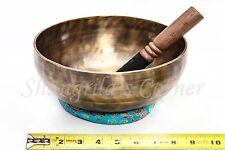 "Healing Master Quality Tibetan Singing Bowl Jambati Hand Hammered  9.5""/1585 g"