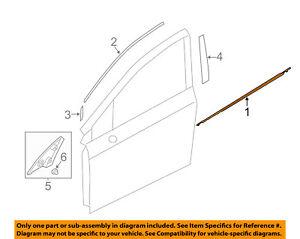 SUBARU OEM Impreza-Door Window Sweep-Belt Molding Weatherstrip Left 61280FJ011