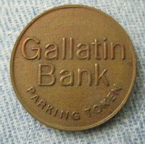 Vintage Gallitin Bank Uniontown Pa. Parking Token -Circulated