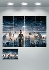London Skyline Alien Space Ship Giant Wall Art poster Print