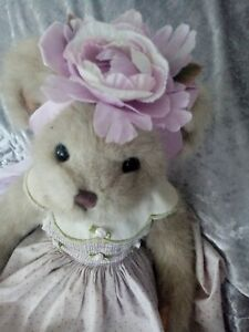 """The Bearington Collection 17"""" Soft Plush Bear Rare Beanie Teddy used"""