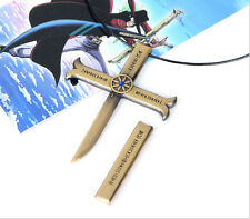 14cm Anime ONE PIECE Dracule Mihawk Cross knife Necklace cosplay Gifts