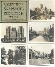 VALENTINE'S SNAPSHOTS  of WELLS - -12 B&W Scenic Views VINTAGE  COMPLETE SET)