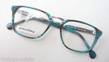 Panto-Fassung Brillengestell von Enrico Coveri türkis braun Markenware Gr. M