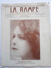 Melle Germaine WEBB REVUE la RAMPE THEATRE CONCERT MUSIC-HALL  n° 71 1917