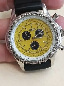 Akribos xxiv Mens Stainless Steel Chronograph Watch  REAL SHARP!!