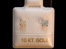 Opal Ohrstecker - 0,32 ct. - 4 mm - 10 Kt. Gold - 417 - Cabochon Cut - Ohrringe