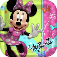 Minnie Mouse 9 Inch Plates Set of 16 Party Supplies Food Plates