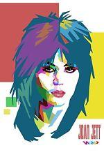Joan Jett Personality Art Poster   12x18