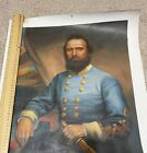 """16"""" x 20"""" antique """"Stonewall Jackson"""" hand painted - Oil painting"""