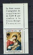 FRANCE TIMBRE CROIX ROUGE AVEC VIGNETTE 3531 ** MNH D TABLEAU - 2002