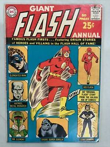 1963 THE FLASH ANNUAL ISSUE #1 COMIC BOOK COMPLETE VERY GOOD CONDITION