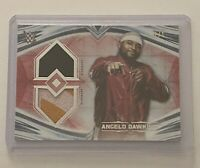 2020 WWE TOPPS UNDISPUTED ANGELO DAWKINS RED DUAL RELIC CARD SN 1/1