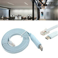 USB to RS232 Serial to RJ45 CAT5 Console Adapter Cable Cord for Cisco Routers