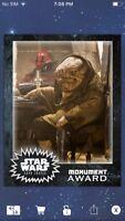 Topps Star Wars Digital Card Trader Quiggold Monument Insert Award