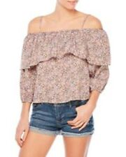 "NEW WALTER BAKER FLORAL""PAMELA"" OFF /COLD SHOULDER RUFFLE BLOUSE TOP~SMALL"