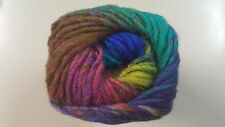 Noro Kureyon #367 Purple Magenta Teal Royal Lime Brown Mix 50g