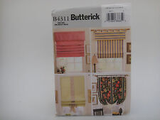 Butterick 4311, Four Variations Window Shades and Mounting Pattern, Home Decor