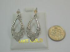 Back Dangle Earrings Style 620L Solid 14k White Gold Earring Lever