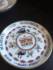 COALPORT QUEEN ELIZABETH II CORONATION PLATE   USED  COND