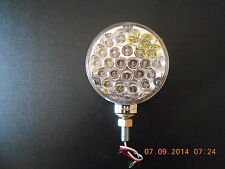 """4"""" Double Face LED Pearl Light Clear Amber/ Red"""